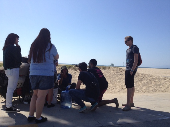Team praying for healing in Venice Beach