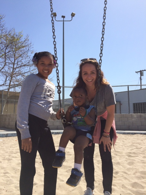 Me in LA playing with kids