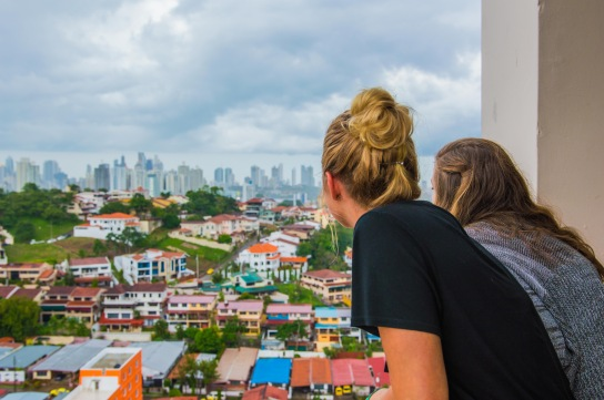 Kourtney & Katie looking at Panama City. Copyright 2015, used with permission by Laura Pitcher
