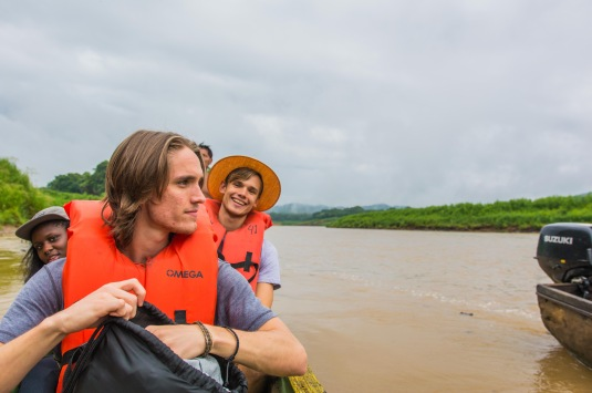 Michael & Chris on the canoes. Copyright 2015, used with permission by Laura Pitcher