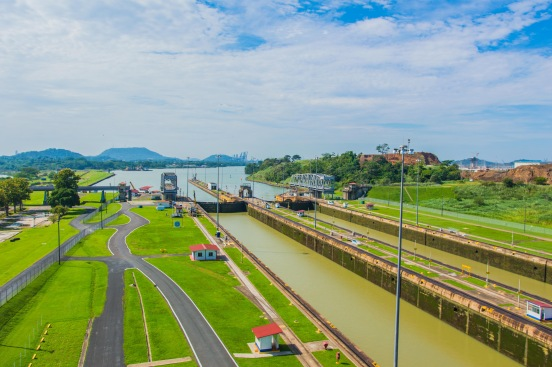 Panama Canal. Copyright 2015, used with permission by Laura Pitcher