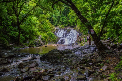 Waterfall in the jungle of Panama. Copyright 2015, used with permission by Laura Pitcher