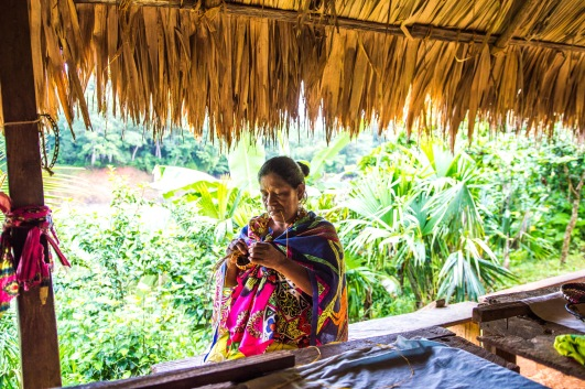 Embera woman. Copyright 2015, used with permission by Laura Pitcher
