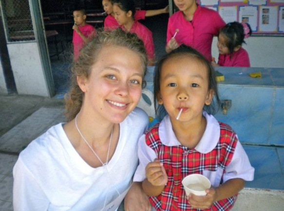 Alison in Thailand. Copyright 2015, used with permission by Alison Brugge