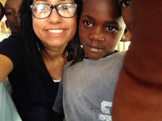 Olivia in Haiti, Copyright 2014, used with permission by Olivia Garza
