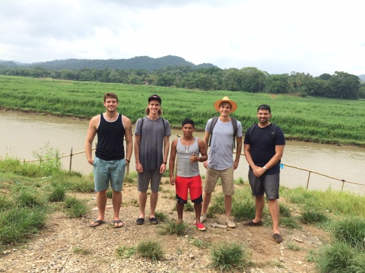 Cole in Panama, with one of the villagers and some team members, Copyright 2015, used with permission by Valerie Garza